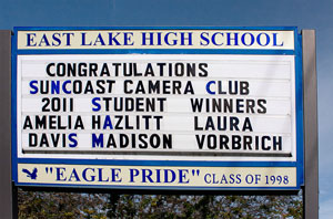East Lake HS sign